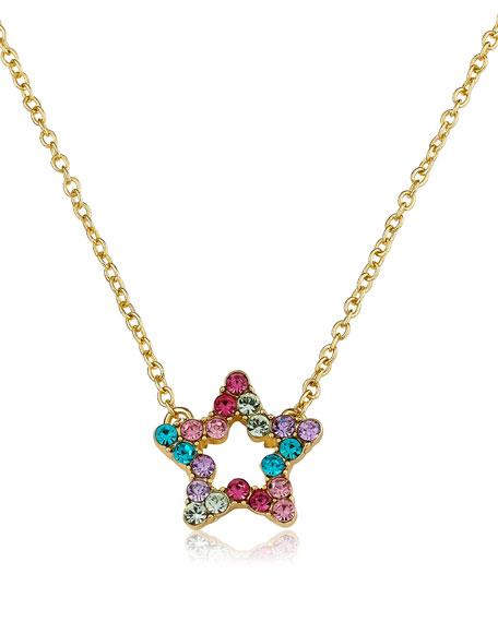 LMTS Girls' Open Star Pendant Necklace (Hypoallergenic)