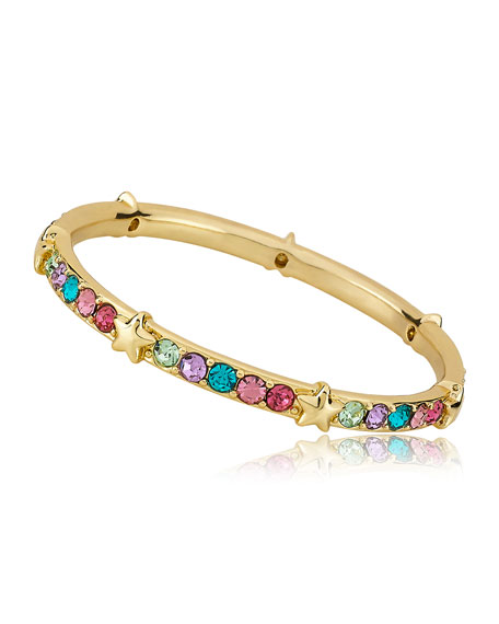 LMTS Girls' Multi Color Stone And Star Bangle (Hypoallergenic)