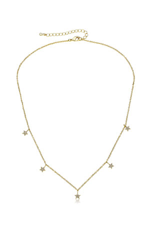 LMTS Girls' Stars Dangle Necklace (Hypoallergenic)