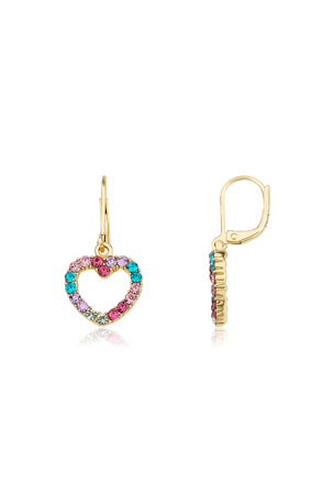 LMTS Girls' Open Heart Dangle Earrings (Hypoallergenic)
