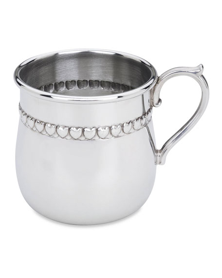Reed & Barton Baby Hearts Pewter Cup