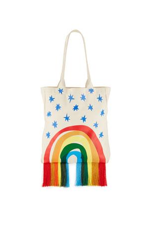 Stella McCartney Kids Kid's Canvas Rainbow Tote Bag
