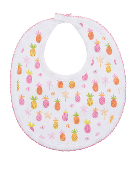 Image 1 of 1: Prismatic Pineapples Printed Bib