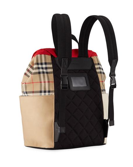 Burberry Kid's Hayden Colorblock Check Backpack