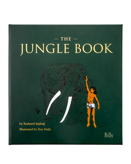 """Graphic Image Personalized Leather Bound """"The Jungle Book"""""""