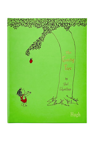 "Graphic Image Personalized Leather Bound ""The Giving Tree"" Children's Book"