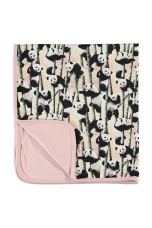 Molo Neala Panda Print Baby Blanket