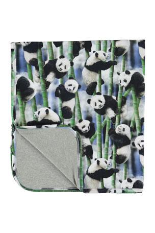 Molo Niles Panda Print Baby Blanket