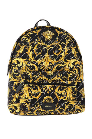 Versace Girl's Signature Printed Backpack