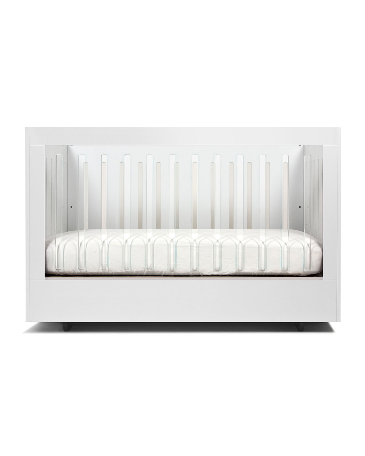 Spot On Square Roh Crib with 1 Acrylic Side, White