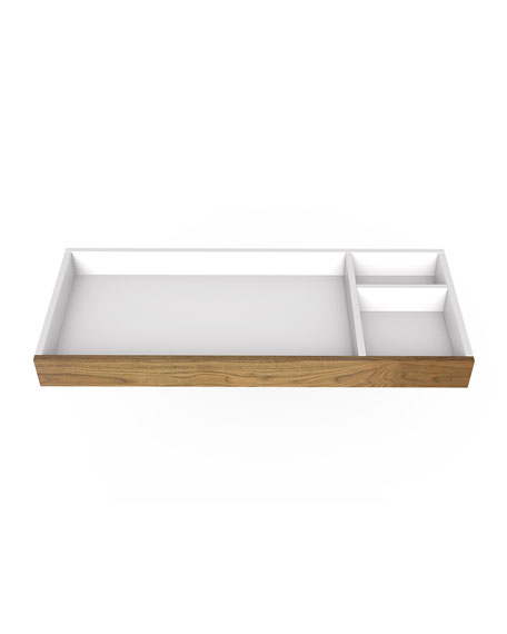 "Image 2 of 3: Spot On Square 45"" Changing Tray, White/Walnut"