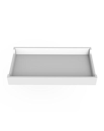 34 White Changing Tray
