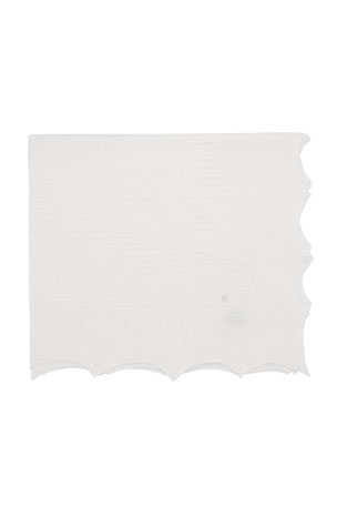 Pili Carrera Knit Baby Blanket w/ Pointed Scallop Edge