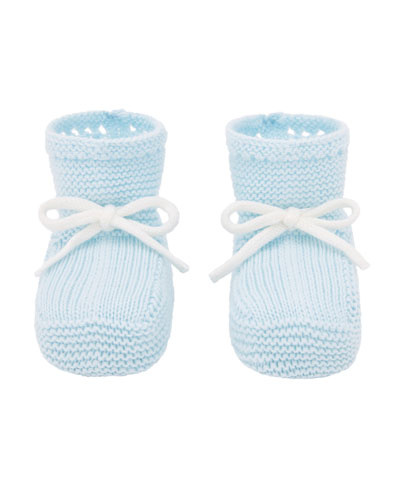 Knit Sock Booties w/ Bow