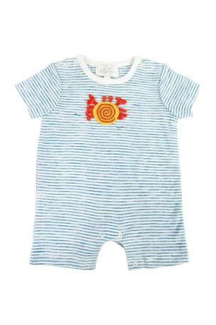 Ralph Lauren Baby Boys/' Orange Blue Gingham Plaid Coverall One Piece Sz 3 9 6