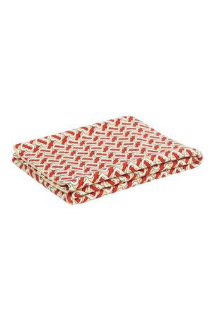 Burberry Freddie Monogram Print Merino Wool Baby Blanket