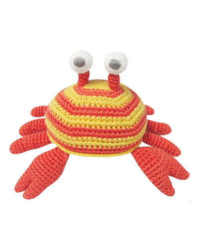 Crochet Crab Rattle Toy