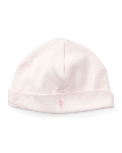 Girl's Interlock Cotton Beanie