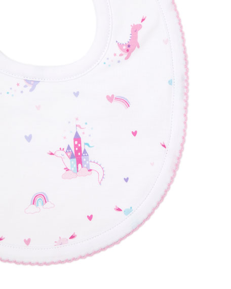 Image 2 of 2: Kissy Kissy Rainbow Castles Printed Bib