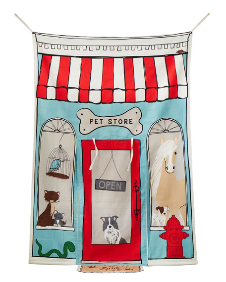 Image 2 of 2: ASWEETS Reversible Doorway Pet and Coffee Shop