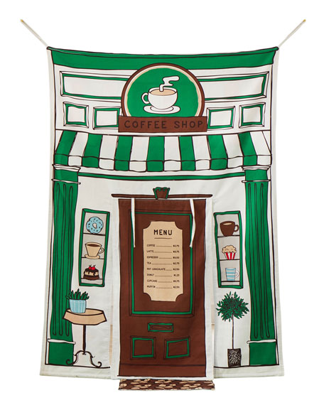 Image 1 of 2: ASWEETS Reversible Doorway Pet and Coffee Shop