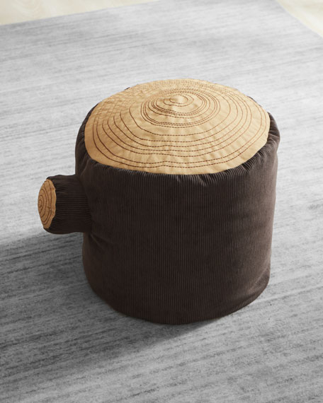Image 2 of 2: ASWEETS Tree Stump Pouf