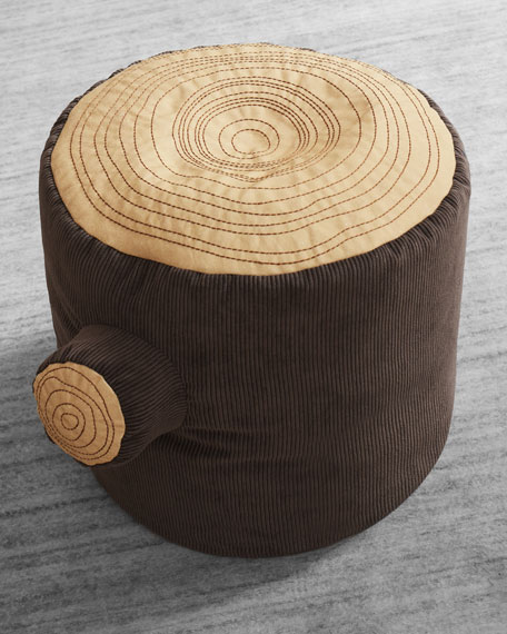 Image 1 of 2: ASWEETS Tree Stump Pouf