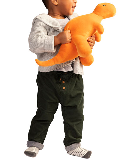 Image 2 of 2: Manhattan Toy Growly Velveteen Dino T-Rex Plush Toy