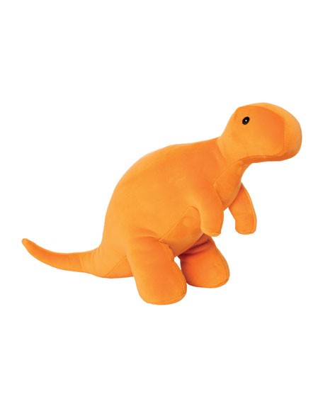 Image 1 of 2: Manhattan Toy Growly Velveteen Dino T-Rex Plush Toy