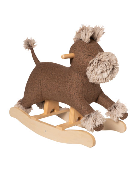Image 1 of 2: Manhattan Toy Terrier Dog Plush Rocker