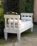 Outdoor Bench & Cushion Set