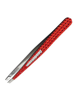 Tweezerman Luxe Edition Crystal Slant Tweezer, Red