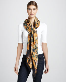 Alexander McQueen Climate Birds and Dragonfly Scarf