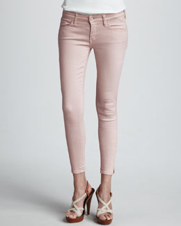 Mother Denim Looker Cropped Skinny Jeans
