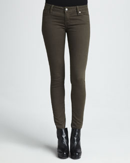 Vince Five-Pocket Skinny Jeans, New Olive