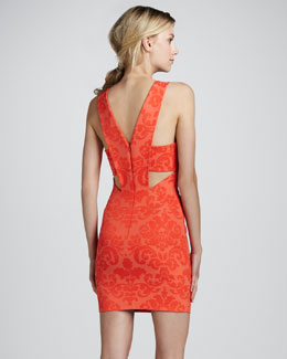 Robert Rodriguez Sleeveless V-Back Shift Dress