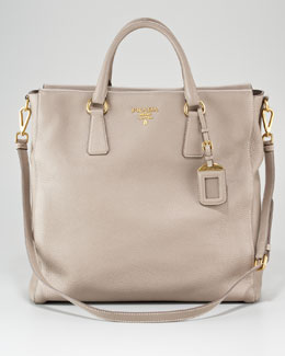 Prada Vitello Daino North-South Tote Bag