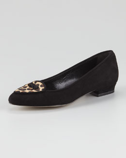 Jacques Levine Laura Suede Smoking Slipper