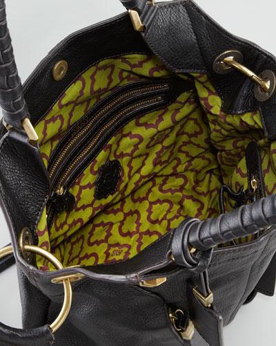 Oryany Gwen Black Leather Shoulder Bag 56