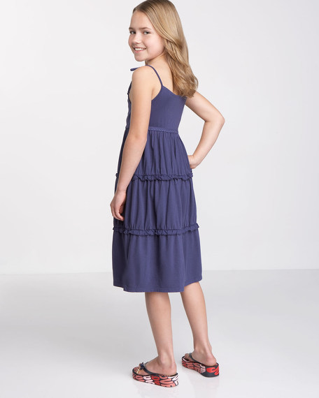 Crochet-Tiered Dress, Sizes 2-6