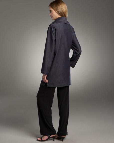 Long Stretch Denim Jacket, Women's