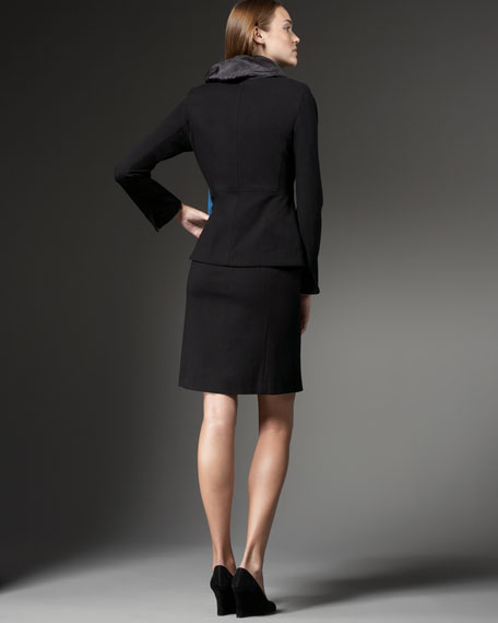 Shaped Ponte Jacket, Petite