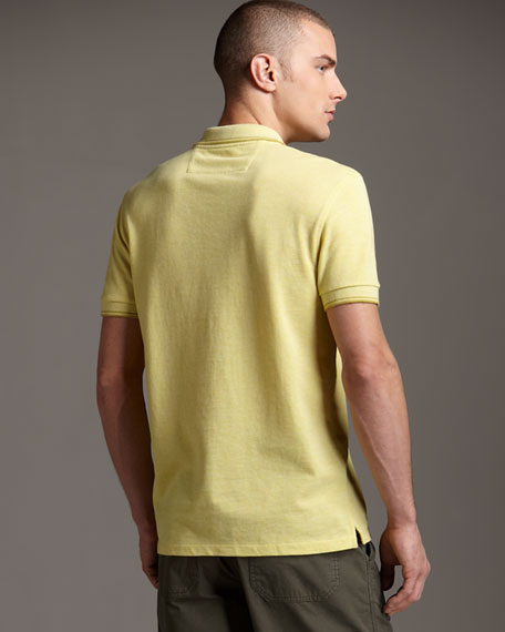 Pique-Knit Polo, Olive