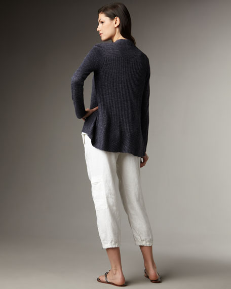 Paneled Speckled Cardigan, Women's