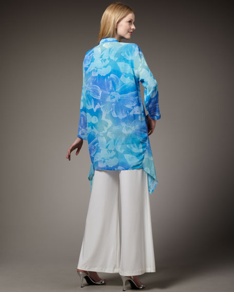 Classic Long Floral Shell, Women's