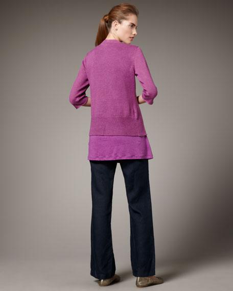 Three-Quarter-Sleeve Cardigan, Petite
