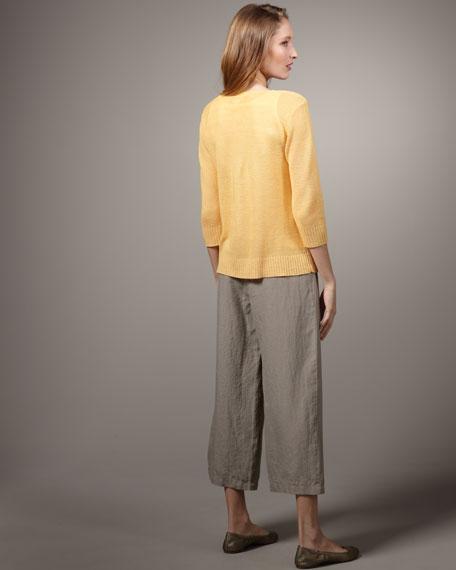 Linen Links Boxy Top, Women's