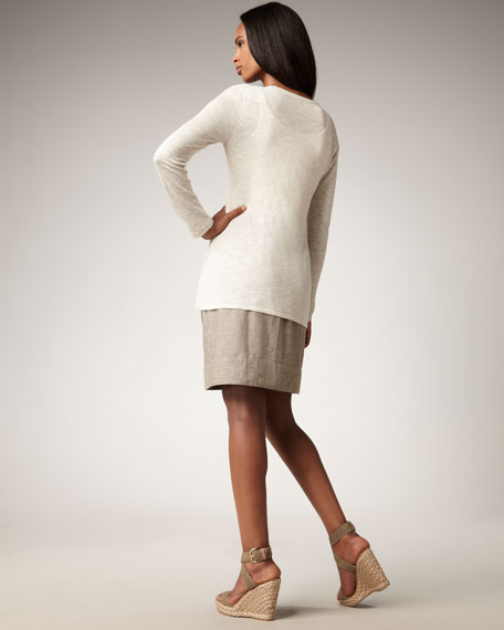 Chambray Skirt, Petite