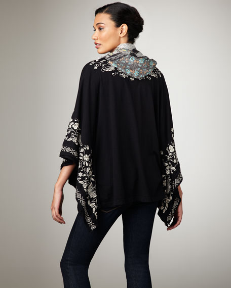 Dylan Embroidered Poncho, Women's