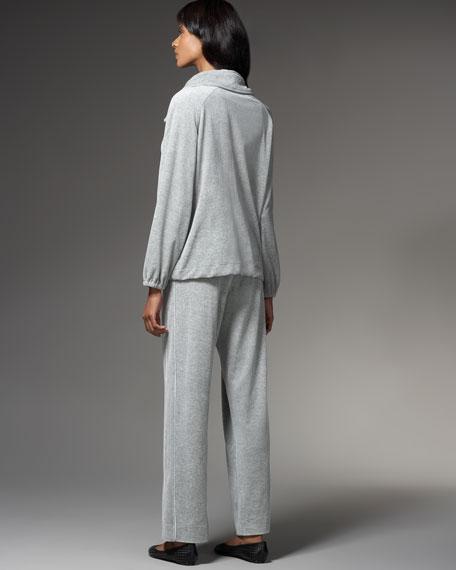 Velour Zip Jacket, Women's